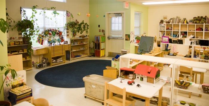 modern Montessori classroom